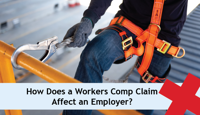 How does a workers comp claim affect an employer?