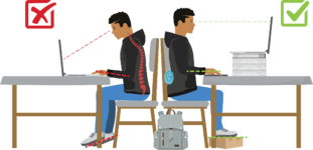 HighSchool Good Bad Posture