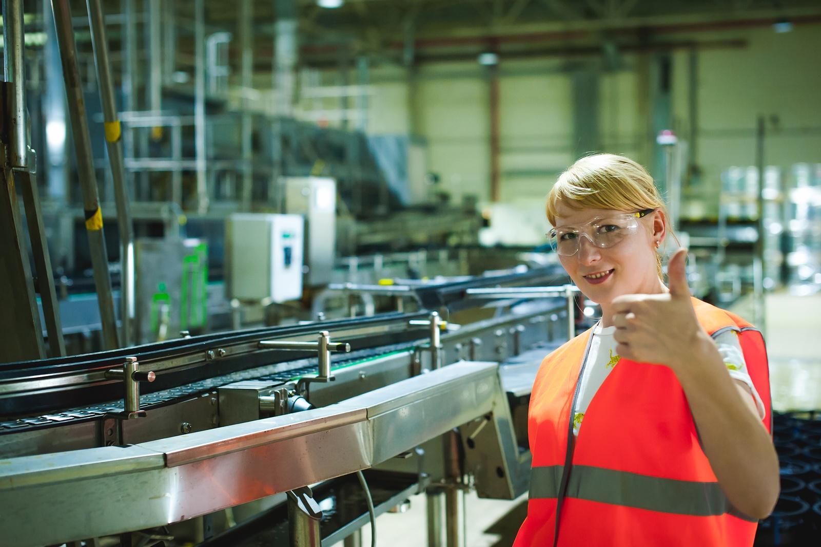 Female worker in factory